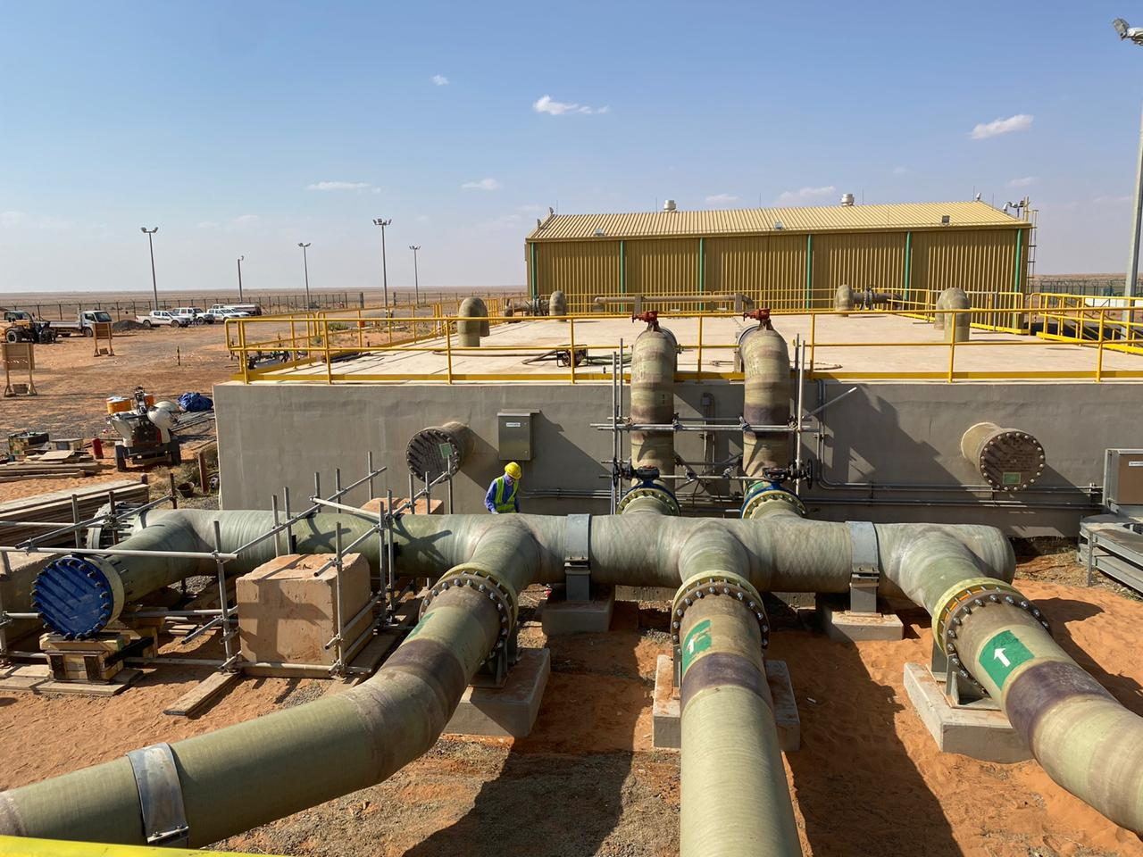 INFRASTRUCTURE & UTILITIES WORK FOR TWO PRODUCTION WELLS AT WA'AD AL SHAMAL WELL FIELD